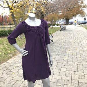 Size Large Anthropology dress, in purple